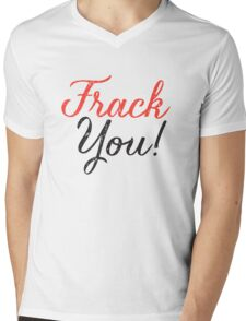 Frack You - Typography  Mens V-Neck T-Shirt