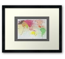 World map as art Framed Print