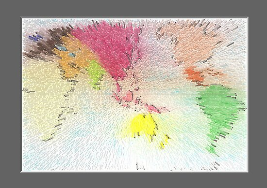World map as art by David Fraser