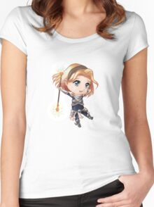 Chibi Lux v.2 Women's Fitted Scoop T-Shirt