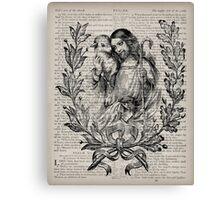 Jesus & the Lamb Psalm 91 Canvas Print