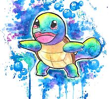 Cool Squirtle Watercolor Tshirts + More! ' Pokemon ' Jonny2may by Jonny2may