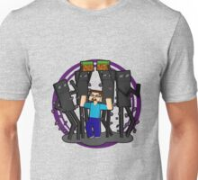 Minecraft Dancing Endermen with Steve Unisex T-Shirt