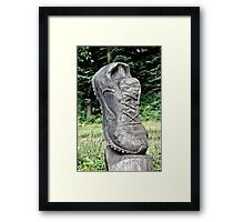 Shoe's the Word Framed Print