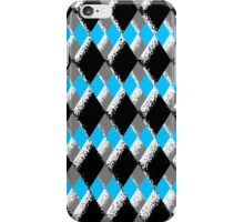 Sponge Textured Checkered Blue, Grey, Black, & White iPhone Case/Skin