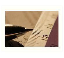 Pen & Scale... Art Print