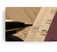 Pen & Scale... Canvas Print