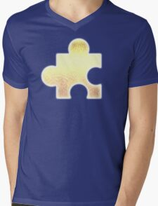 Golden Jigsaw Piece - Banjo Kazooie Mens V-Neck T-Shirt