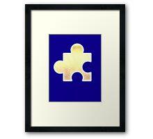 Golden Jigsaw Piece - Banjo Kazooie Framed Print