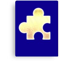 Golden Jigsaw Piece - Banjo Kazooie Canvas Print