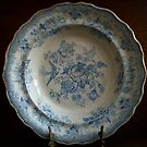 Antique Blue and White Plate - Still Life by 082010