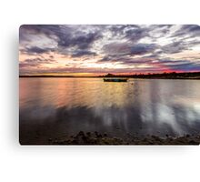 Red Sky Morning Canvas Print