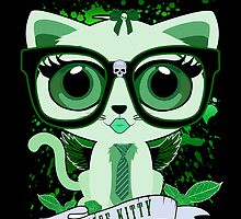 Nice Kitty - Black & Green by Adamzworld
