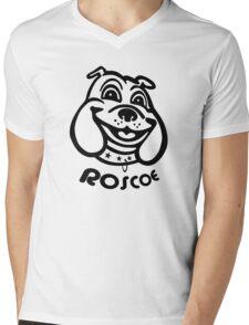 Roscoe! (black) Mens V-Neck T-Shirt