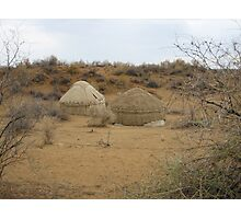 Yurts on the Steppe Photographic Print