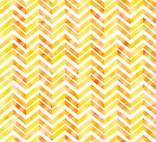 Orange Layered Chevron by Silvia Neto
