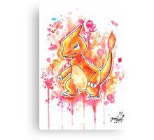 Cool Charmeleon Watercolor Tshirts + More! ' Pokemon ' Jonny2may Canvas Print