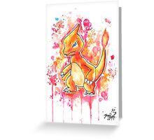 Cool Charmeleon Watercolor Tshirts + More! ' Pokemon ' Jonny2may Greeting Card