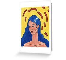 Primary Colour Woman Greeting Card