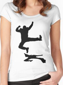 the happy guy t-shirt on lite Women's Fitted Scoop T-Shirt