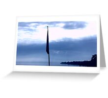 blue, white, clouds, Switzerland, water, lake, Zurich Greeting Card