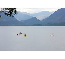 out on Derwentwater Photographic Print