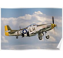 """P-51D Mustang 45-15118/LH-F G-MSTG """"Janie"""" Poster"""