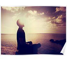 Sunset Meditation in Purple Poster