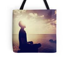 Sunset Meditation in Purple Tote Bag