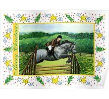 Connemara Pony Blank Christmas Card Poster