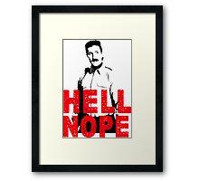 Hell Nope Framed Print