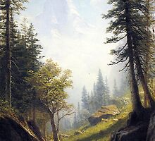 Bierstadt Albert - Among The Bernese Alps. by naturematters