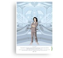 Alien (1979) Movie Poster - feat. Ripley Canvas Print