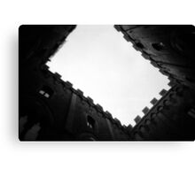 Town Hall of Gapped Teeth - Lomo Canvas Print