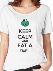 Keep Calm And Eat A Pixel Women's Relaxed Fit T-Shirt