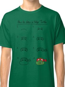 How to draw a ninja turtle Classic T-Shirt