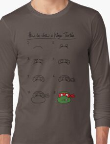 How to draw a ninja turtle Long Sleeve T-Shirt