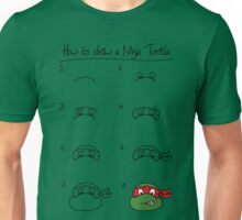 How to draw a ninja turtle Unisex T-Shirt