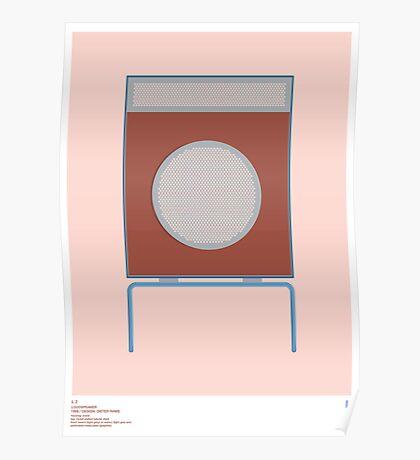 Braun L2 Loudspeaker - Dieter Rams Poster