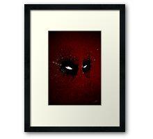 Paint Splatter Villaines : Deadpool Framed Print
