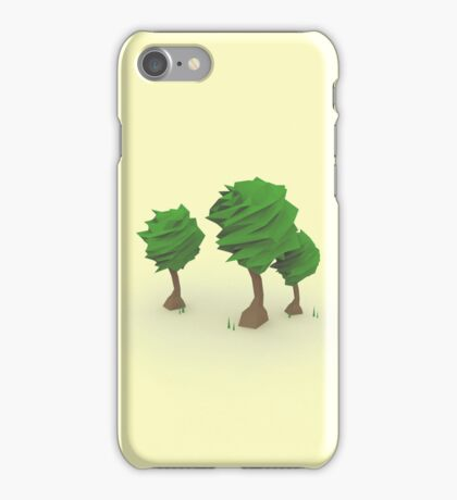 Low Poly Trees iPhone Case/Skin