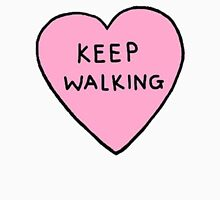 Keep walking Womens Fitted T-Shirt