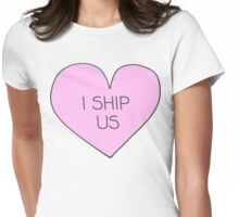 I ship us Womens Fitted T-Shirt