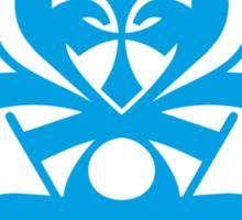 Typo Samurai - Cyan Sticker