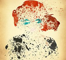Paint Splatter Superheros: Black Widow by Arian Noveir