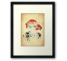 Paint Splatter Superheros: Black Widow Framed Print