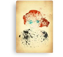 Paint Splatter Superheros: Black Widow Canvas Print