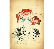 Paint Splatter Superheros: Black Widow Photographic Print