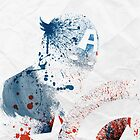Paint Splatter Superheros: Captain America by Arian Noveir
