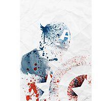 Paint Splatter Superheros: Captain America Photographic Print